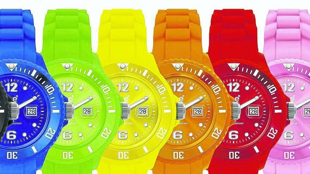 Farbenfroh: die Ice-Watch Collection peppt die Zeit auf.