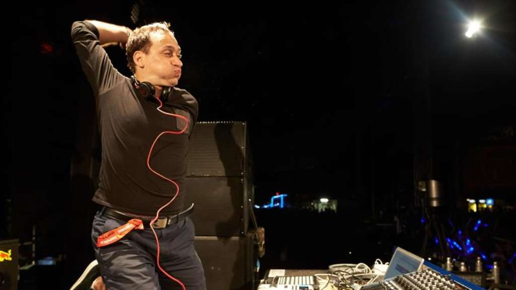 "DJ Paul van Dyk in Action 204 beim Technofestival ""Nature One"" in Kastellaun. Foto: Thomas Frey"