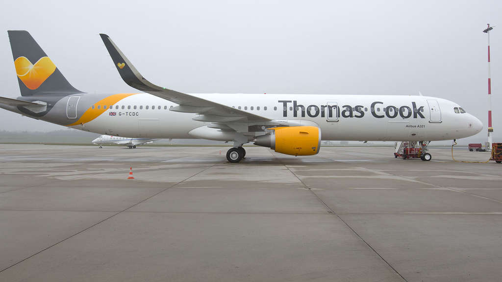 Ein Airbus der Thomas Cook Airlines UK (Archivbild).