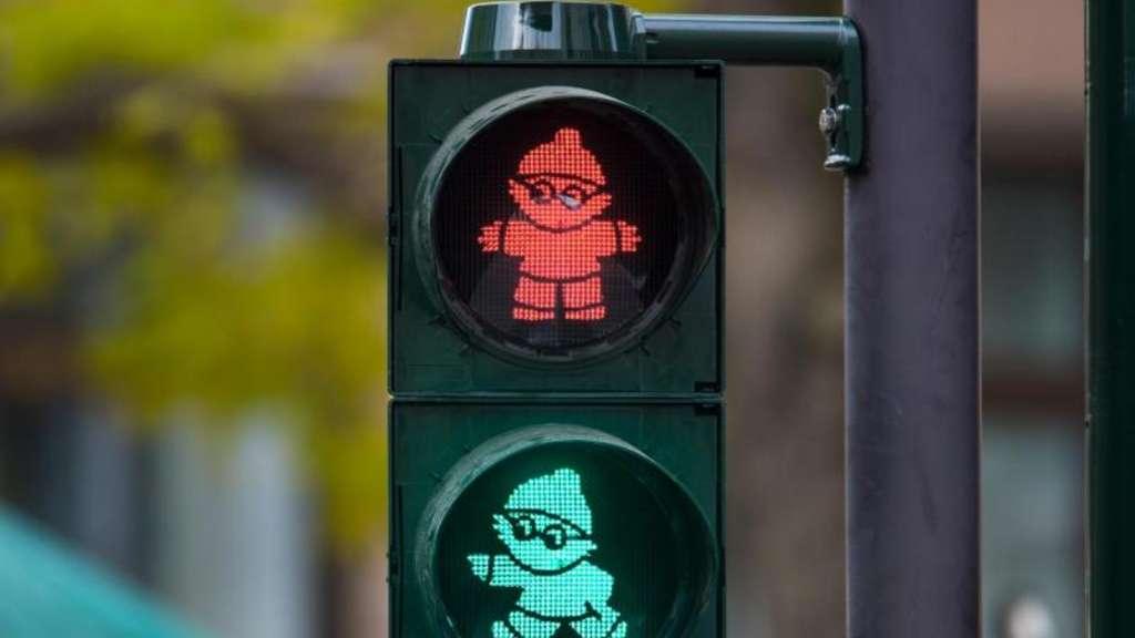 Neue Ampelmännchen für Mainz Mainzelmännchen zeigen Fußgängern den Weg