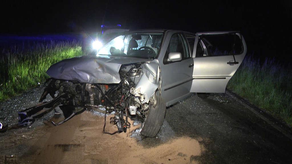 Unfall mit sechs Verletzten zwischen Bebra-Solz und Nentershausen-Dens