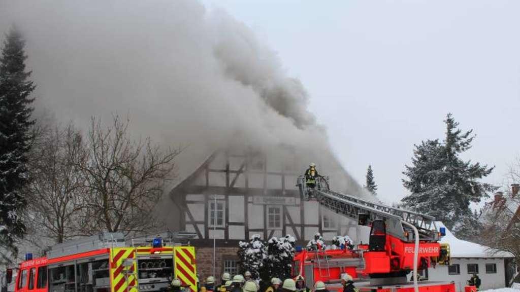 Klosterschänke nach Feuer zerstört | Bad Hersfeld