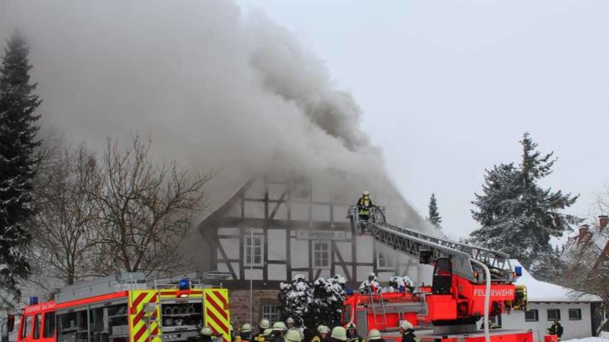 Klosterschänke nach Feuer zerstört   Bad Hersfeld
