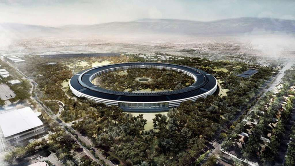 Apple. Cupertino, Hauptquartier, Firmensitz, Ufo, Ring
