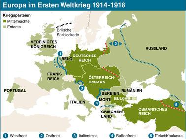 Osmanisches Reich Karte 1914.Der Erste Weltkrieg 1914 Bis 1918 Eine Chronik Panorama