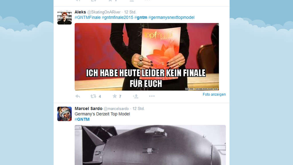 Twitter, GNTM, Bombendrohung