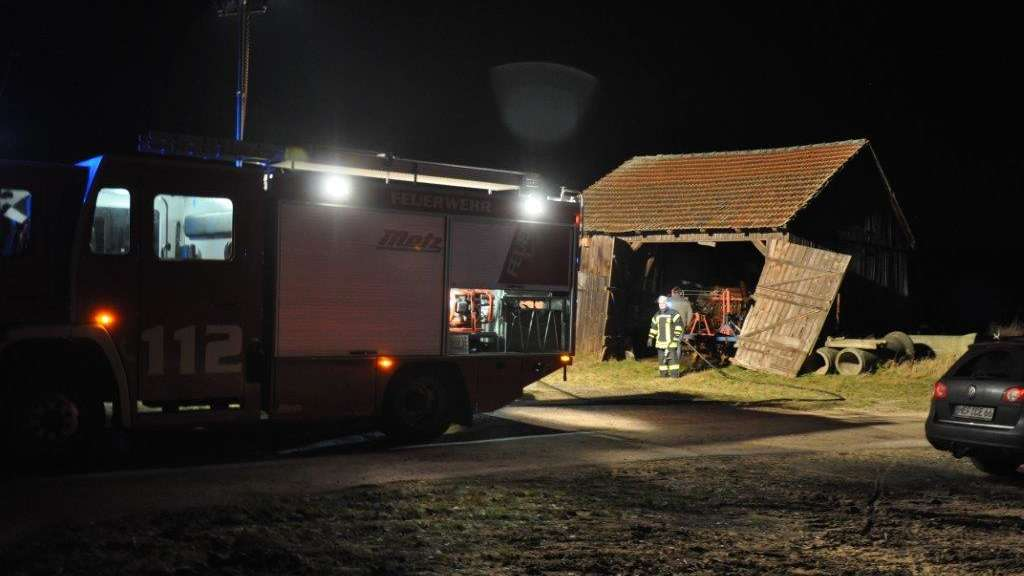 Scheunenbrand in Wippershain.