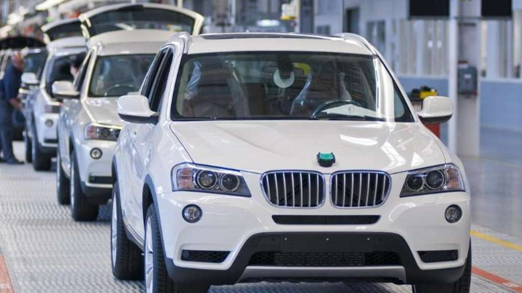 Montage eines BMW X3 im Werk Spartanburg in den USA. Foto: BMW AG