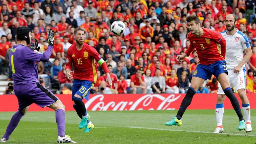 Fussball Spanien Tschechien