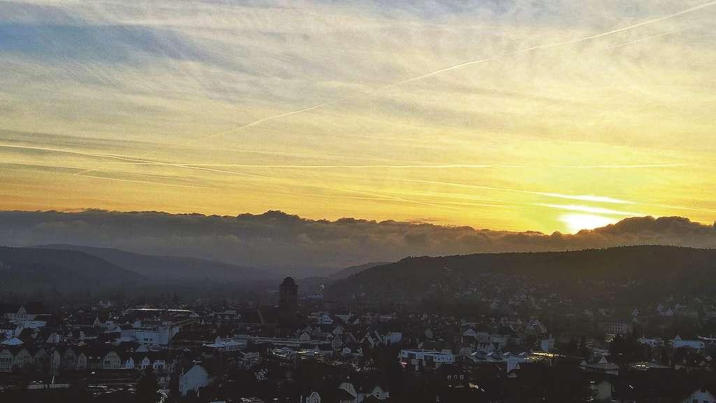 Aussicht Auf Die Stadtkirche: Sonnenuntergang In Bad