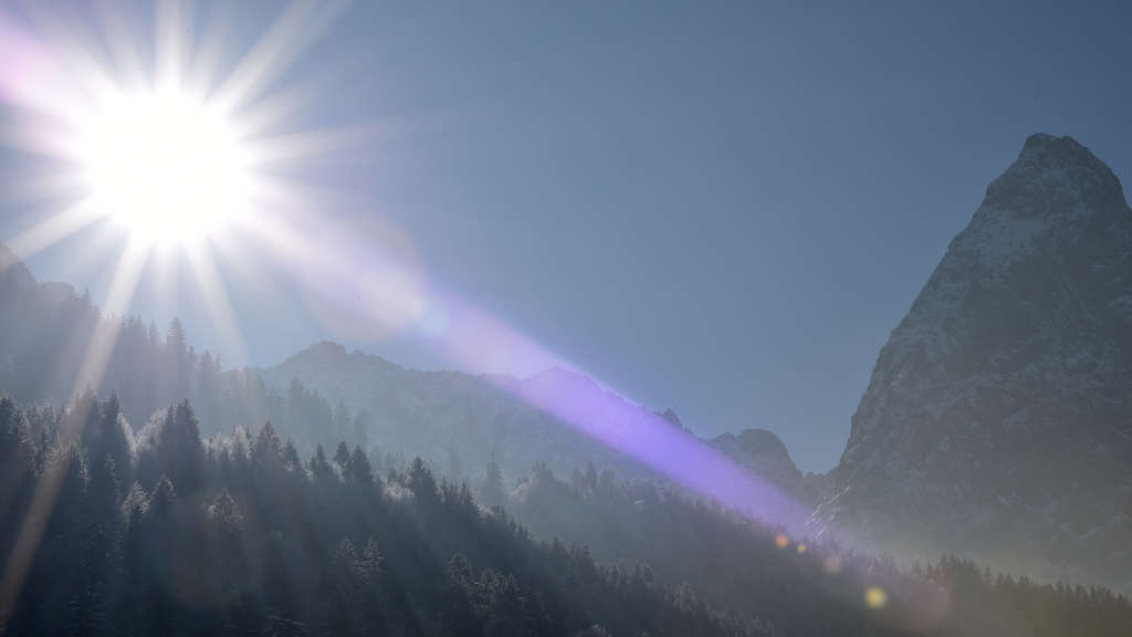 Wintersonne in Garmisch