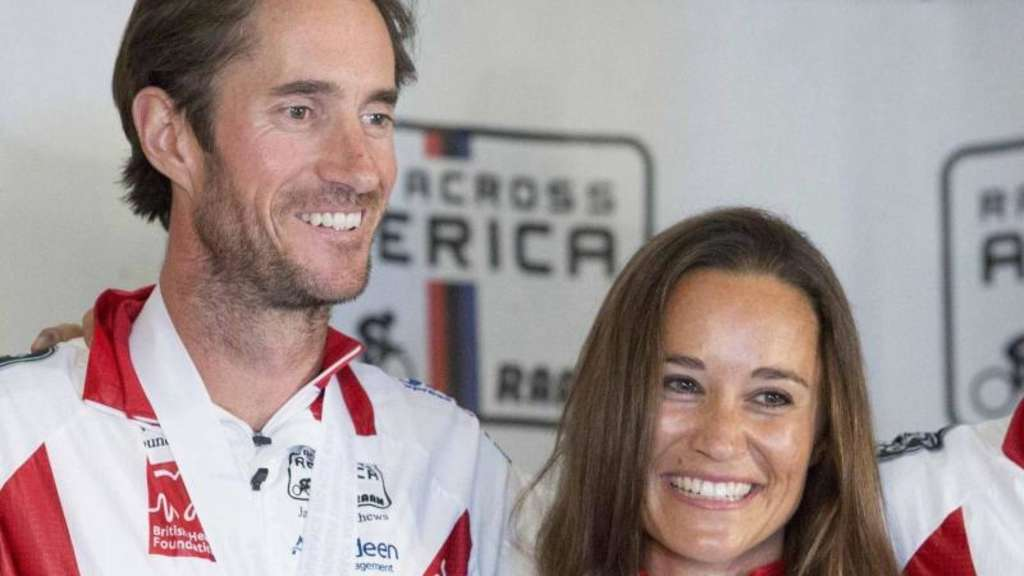 "Pippa Middleton und James Matthews nach dem Fahrradrennen ""Race Across America"" 2014 in Annapolis, Maryland, USA. Foto: Drew Angerer"