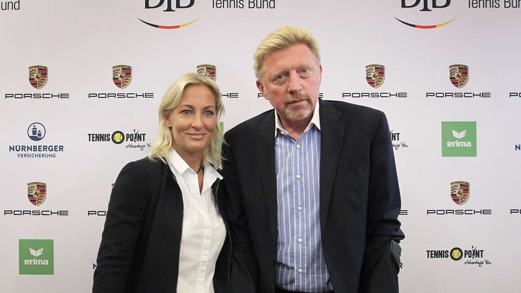 Head of Women's Tennis und Head of Men's Tennis: Barbara Rittner und Boris Becker.