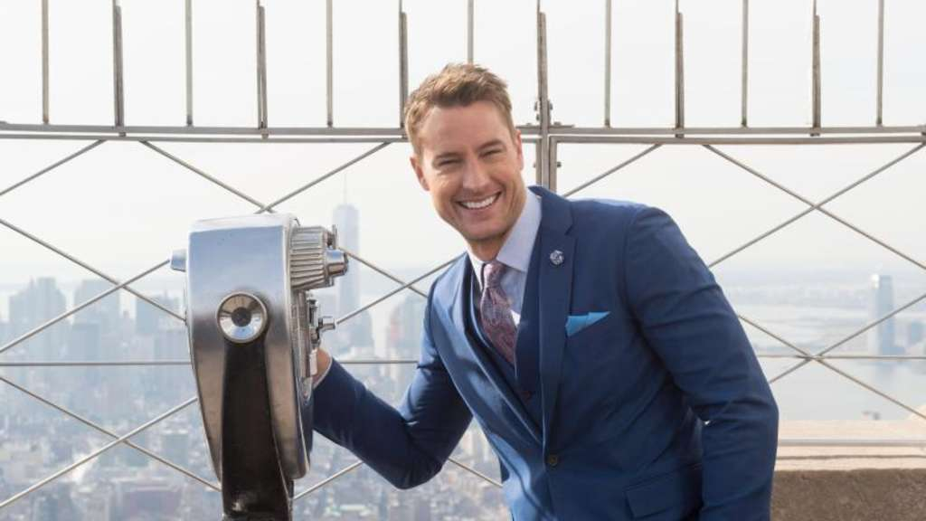 Ganz oben: Justin Hartley auf dem Empire State Building in New York. Foto: Bryan Smith