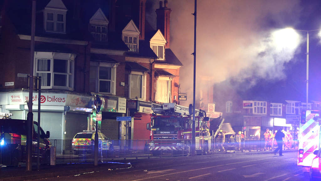 Explosion in Leicester