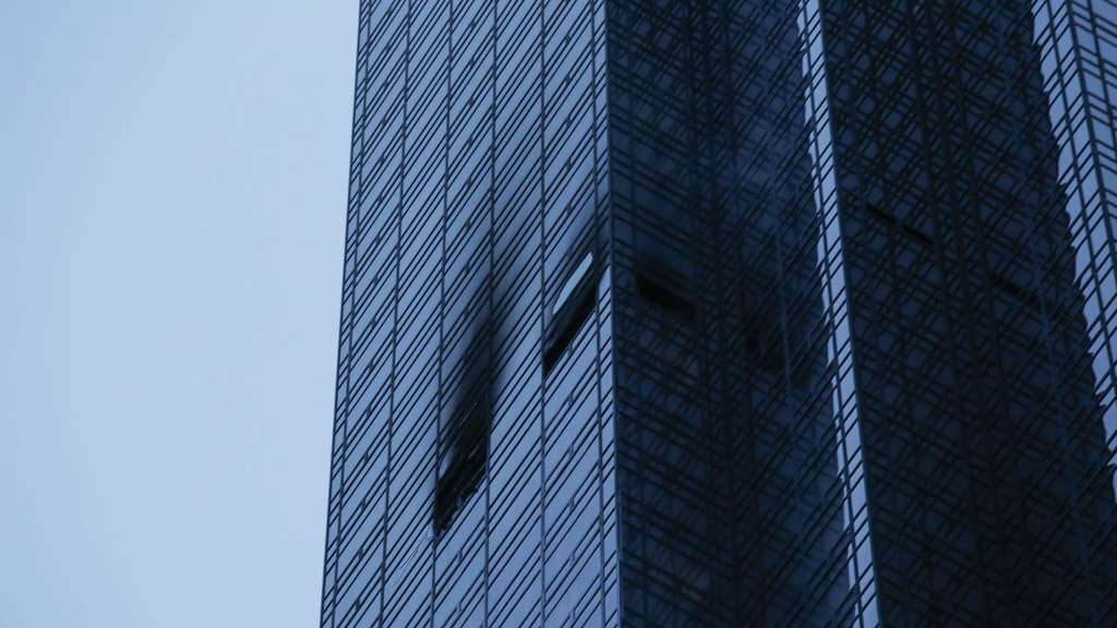 Fire Blazes On 50th Floor Of Trump Tower