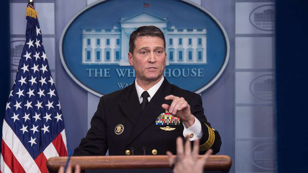 Dr Ronny Jackson is due to attend the briefing to discuss the physical examination of President Trump