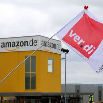 Oster-Streik bei Amazon in Bad Hersfeld