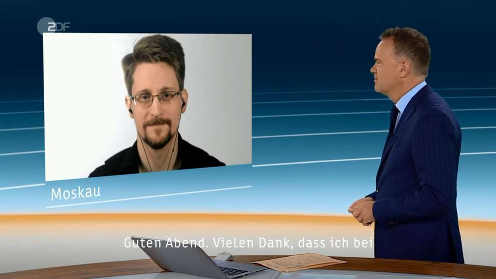 Edward Snowden im ZDF-Interview.
